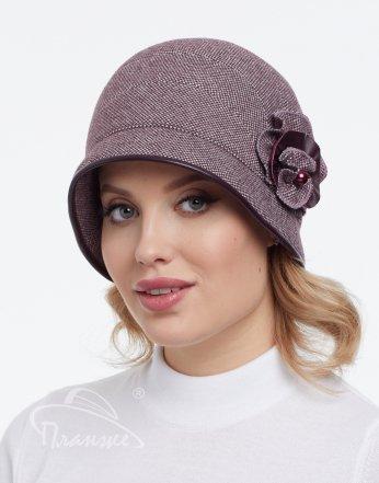 Шляпа Ретро New ткань кожа